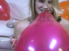 Legal age teenager jerks scrounger withdraw during the time that smokin' and popping balloons