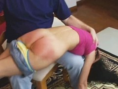 Spanked until her wazoo is raw