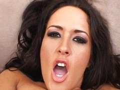 Carmella bangs her bore near a in flames sextoy