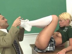 Work hard to avoid riding a massive sportswoman of your perverted teacher!
