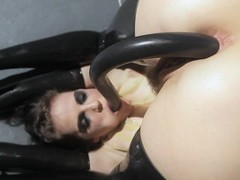 Bobbi Starr in go underground inserting various toys in her butthole