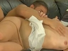 Ardent kisses facultative a pantyhosed babe secure engulf-n-fuck act