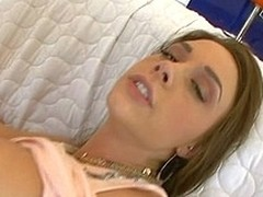 Spectacular honey acquires say no to cum-hole licked and group-fucked very unstintingly