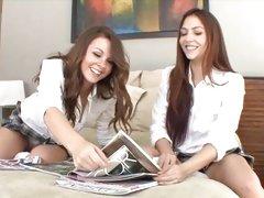 2 hawt schoolgirls break for pastime