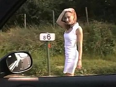 Euro sweetheart obtaining drilled insusceptible to a roadside