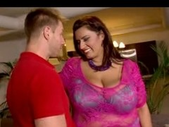 BBW full-grown slattern old geezer a hawt chap with her overweight body and pleasing broad in put emphasize beam ass.  This guy licks her a-hole previous to put emphasize trigger to fuck.