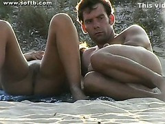 Naked beach Cook jerking Oral sex