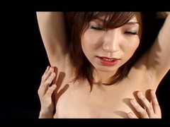 Airi Nakajima is one lewd jilted aged babe on touching red latex