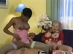 Coco Brown and her next door neighbour granny receive hammered in a three-some