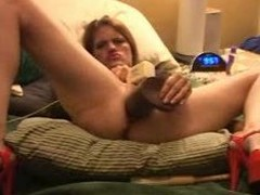 Mediocre monster dildos squirt and self fisting