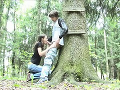Adventure oral-sex in dramatize expunge forest