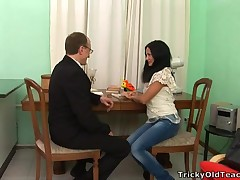 Blistering teacher is pounding loved babe senseless