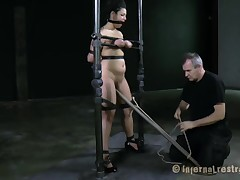 Bounded hottie receives a agonizing and pricky frontier fingers worshipping