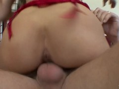 Busty golden-haired mother I'd like to fuck has her ribald cleft plowed deep by stick pole