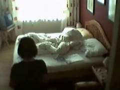 My mum in her bedroom masturbating. Hidden web camera