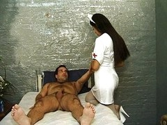 Bad Lalin girl nurse riding penis heals patient