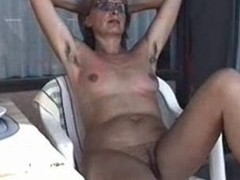 MARION from shaggy Germany with unshaven Armpits 01 - Nackt-Schlampe