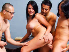 Indian Wife Pleases Say no to Husband & Acquires Screwed By His Friends