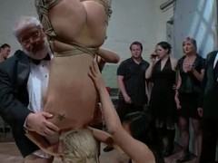 A lot of cum in blond's frowardness chit some public perversions