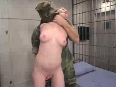 Military captive is bestial distressing by 2 officers