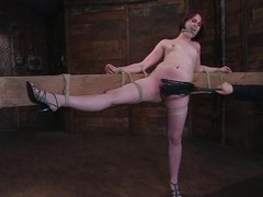 Hellacious Bronte receives whipped and toyed coarse in S&m vid