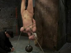 Bound near Haley Cummings hangs upside down and acquires toyed