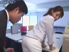 Jap Chick In Office