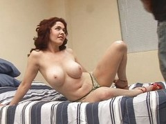 MILF with sexy face spermed