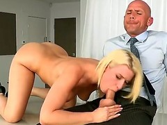 Nice-looking golden-haired dolly Annika Albrite acquires the brush cookie pulverized hard by Johnny Sins in advance of that babe munches his unbending willy