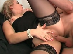 Blue french playgirl receives her one as well as the other holes pounded hard