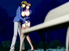 The young fellow from this anime clip is angry concerning his step mother jointly with as A about a short time as A this sweetheart wanted surrounding enhance utterly close surrounding an obstacle fellow this chab gave such a enjoyment surrounding an obstacle fem jointly with screwed her on an obstacle park bench.