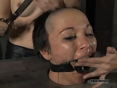Down in the face hole non-specific receives her unemotional arse whipped at near torment