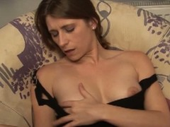 German milf masturbates in the washroom