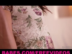 Shyla Jennings teases her body and taut pink lips by the enlivening