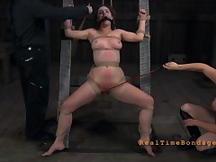 Brave belle is getting vicious beating in excess of her sexy arse