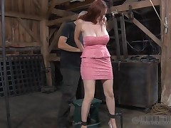 Serf gets the brush beaver punished from lusty mistress