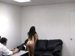 Anal casting sofa penetration