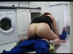XXX cheating wife fucks the plumber